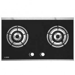Baumatic BG2.7BL TG 75 cm Built-in 2-Burner Town Gas Hob
