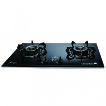 Lighting LJ-8388 75cm Built-in 2-burners LP Gas Hob(Black/Crystal Clear Green)
