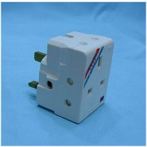 JEE 95101L BS 13A Adaptor W/Neon (13AX1, 5AX2)